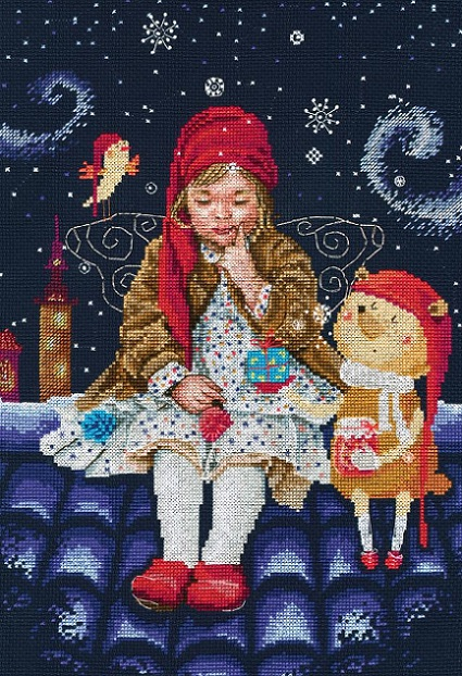 click here to view larger image of Fairy Tales on the Roof (counted cross stitch kit)