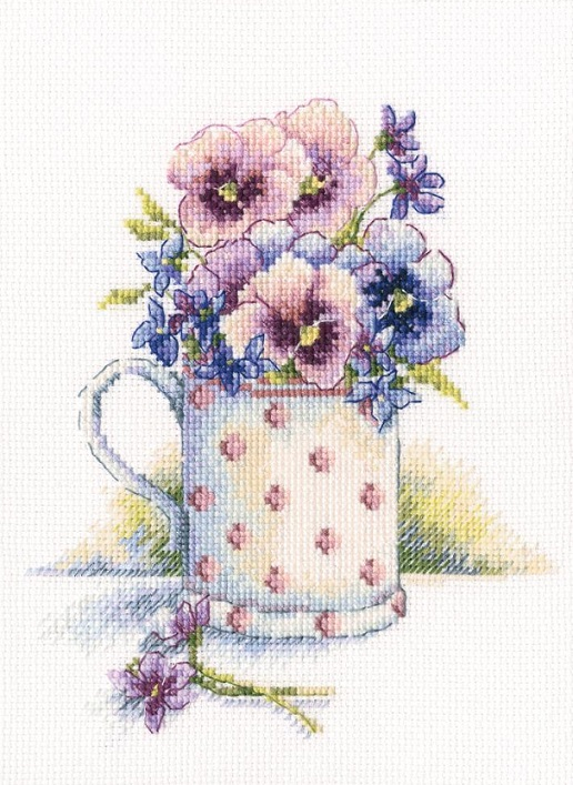 click here to view larger image of First Violets (counted cross stitch kit)