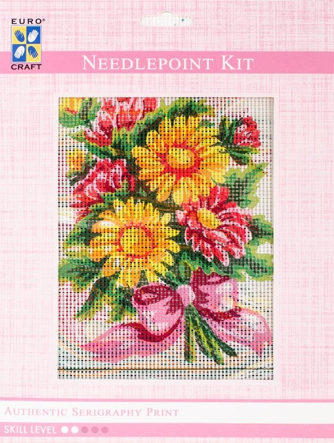 click here to view larger image of Daisy Bouquet Needlepoint Kit (needlepoint)