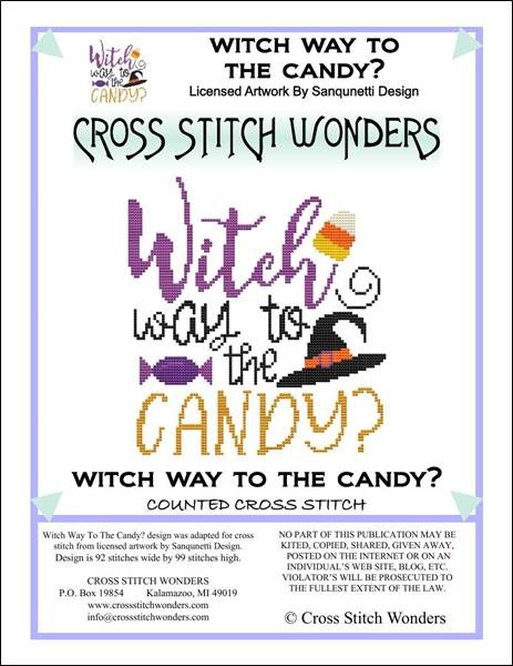 click here to view larger image of Witch Way to the Candy? (chart)