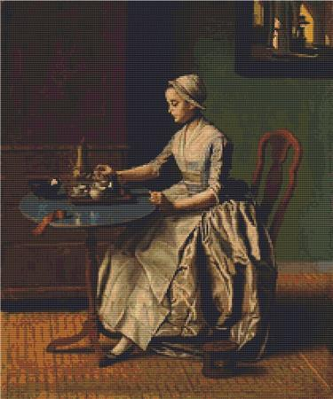 click here to view larger image of Lady Pouring Chocolate (chart)