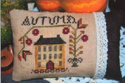 click here to view larger image of Autumn Pin Pillow, An (chart)