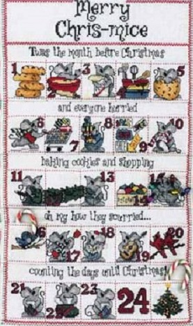 click here to view larger image of Chris-mice Advent Calendar (chart)