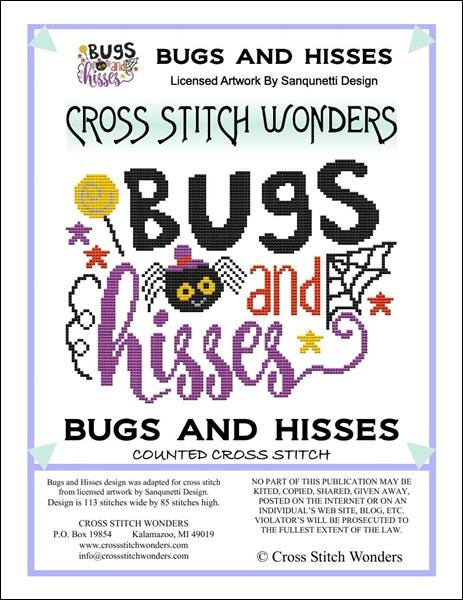 click here to view larger image of Bugs and Hisses (chart)