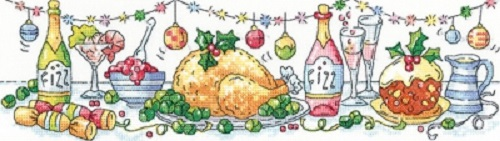 click here to view larger image of Christmas Dinner (Evenweave) (counted cross stitch kit)