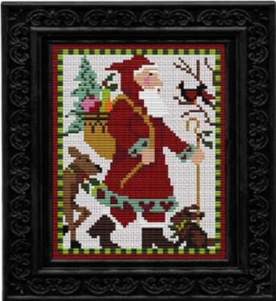 click here to view larger image of Woodland Santa - Kit (counted cross stitch kit)