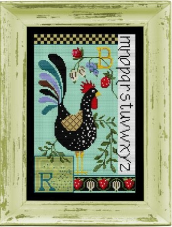click here to view larger image of Rooster Sampler - Kit (counted cross stitch kit)