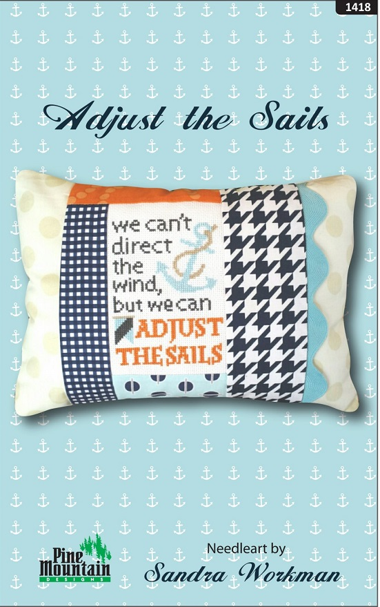 click here to view larger image of Adjust the Sails - Words of Wisdom Kit (counted cross stitch kit)