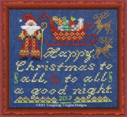 click here to view larger image of Happy Christmas To All - Santa (chart)