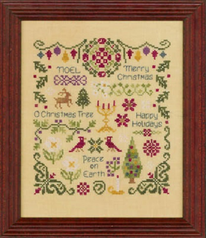 click here to view larger image of Antique Christmas Sampler (chart)