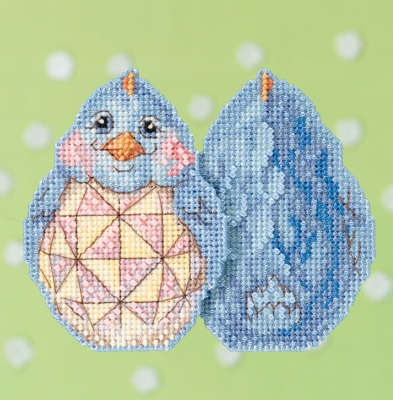 click here to view larger image of Blue Chick  (counted cross stitch kit)