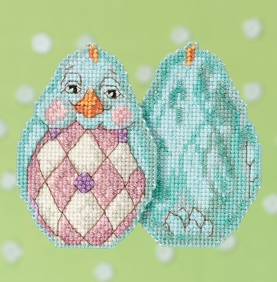 click here to view larger image of Aqua Chick  (counted cross stitch kit)