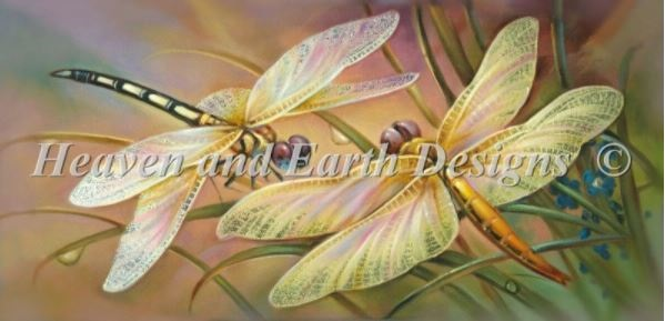 click here to view larger image of Golden Dragonflies (chart)
