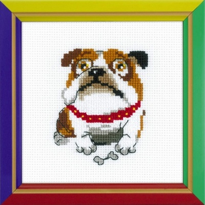 click here to view larger image of English Bulldog (counted cross stitch kit)
