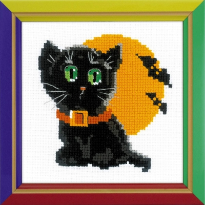 click here to view larger image of Black Cat (counted cross stitch kit)