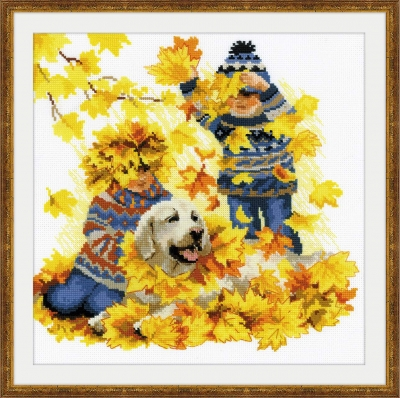 Autumn Holidays - click here for more details about counted cross stitch kit