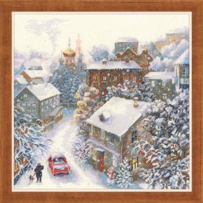 click here to view larger image of Snowy Winter (counted cross stitch kit)