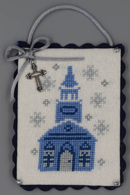 click here to view larger image of Church (Blue & Silver Christmas) (chart)