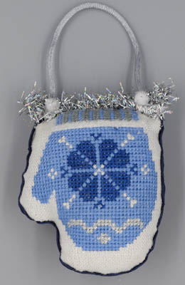 click here to view larger image of Mitten (Blue & Silver Christmas) (chart)
