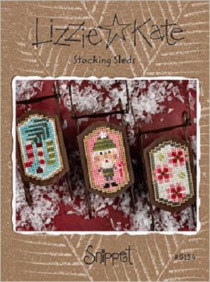 click here to view larger image of Stocking Sleds Snippet (Includes Embellishments) (chart with charms/buttons)