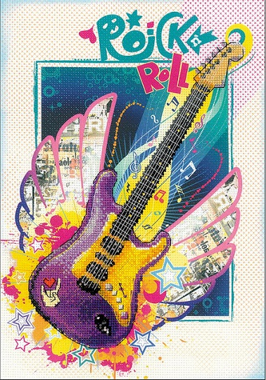 click here to view larger image of Rock n Roll Stamped Cross Stitch Kit (stamped cross stitch kit)