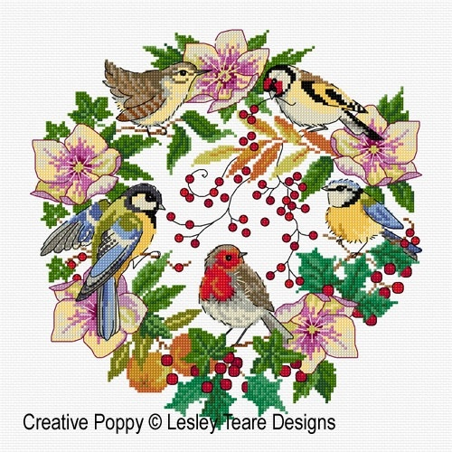 click here to view larger image of Winter Bird Wreath (chart)