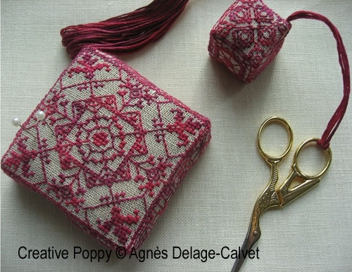 click here to view larger image of Red Lace Needlework Set (chart)