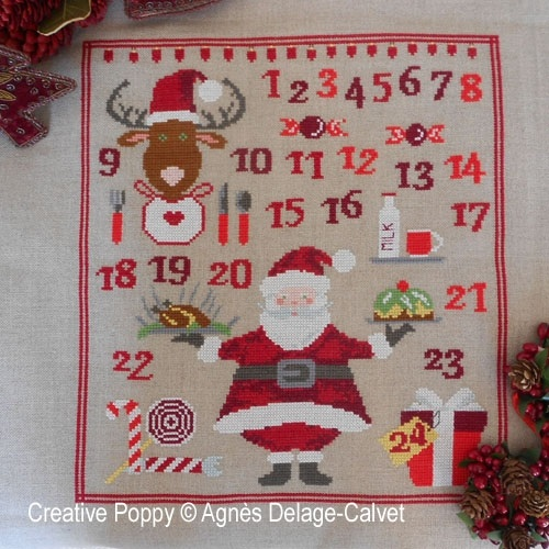 click here to view larger image of Santas Baking - Advent Calendar (chart)