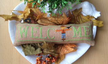 click here to view larger image of Wee Welcome - October Scarecrow (chart)