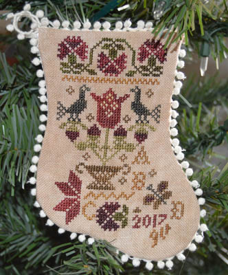 click here to view larger image of Tulip Basket Ornament (chart)