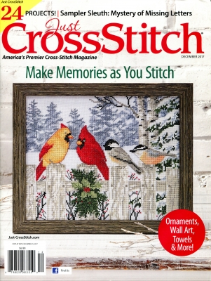 click here to view larger image of Just Cross Stitch - November/December 2017 (magazines)