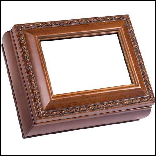 click here to view larger image of Woodgrain Rectangular Treasure Box (accessory)