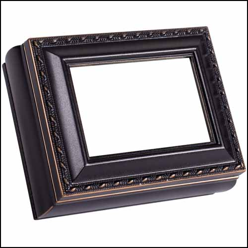 click here to view larger image of Black Rectangular Treasure Box (accessory)
