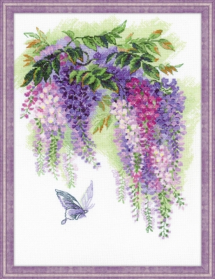 click here to view larger image of Wisteria (counted cross stitch kit)