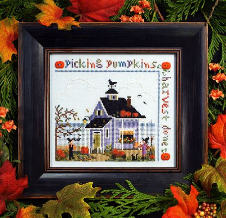 click here to view larger image of Pumpkin Cottage Sampler (chart)