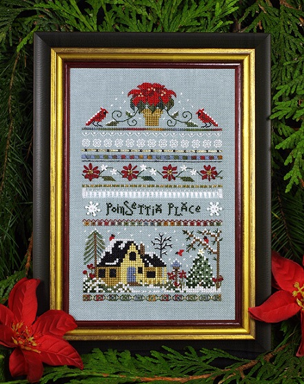 click here to view larger image of Poinsettia Place Sampler (chart)