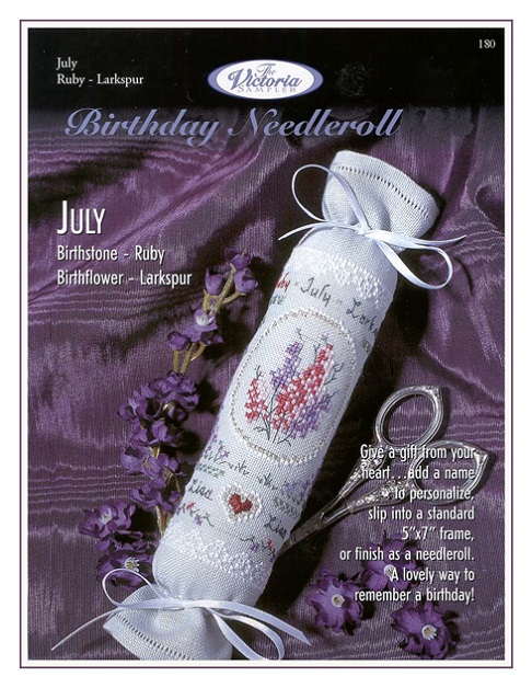click here to view larger image of July Birthday Needleroll (chart)