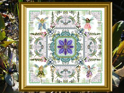 click here to view larger image of Fairy Flower Garden Mandala, The (chart)