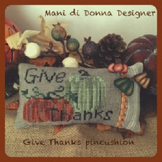 click here to view larger image of Give Thanks Pincushion (chart)