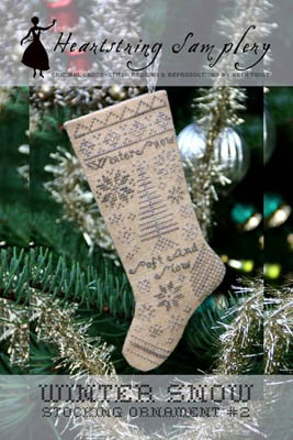 click here to view larger image of Winter Snow Stocking Ornament (chart)