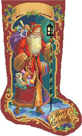 click here to view larger image of Father Christmas Stocking (chart)