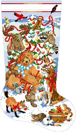 click here to view larger image of Wildlife Christmas Stocking, A (chart)