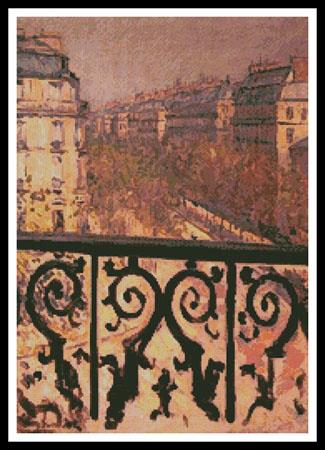 click here to view larger image of Balcony in Paris, A (chart)
