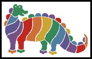 click here to view larger image of Colourful Dinosaur (chart)