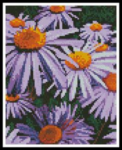 click here to view larger image of Mini Purple Daisies (chart)