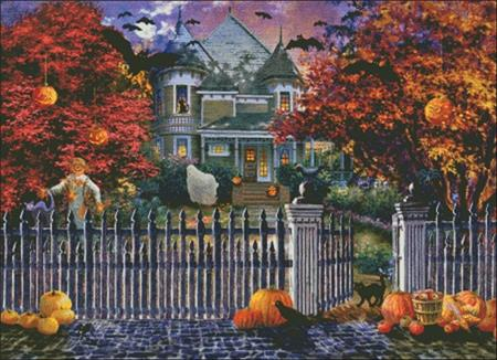 click here to view larger image of Halloween House (chart)