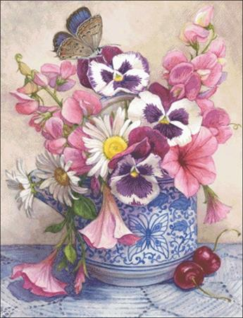 click here to view larger image of Pansies and Sweet Peas (chart)