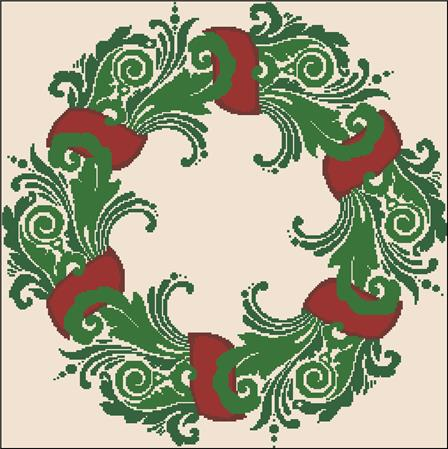 click here to view larger image of Christmas Wreath Silhouette (chart)