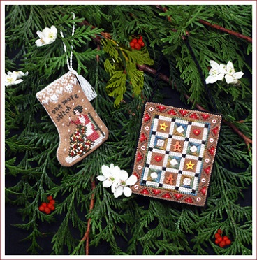 click here to view larger image of Gingerbread Quilty Ornaments (includes main accessory pack) (chart)