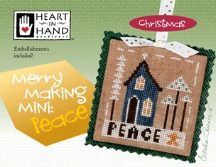 click here to view larger image of Merry Making Mini - Peace (Includes Embellishments) (chart with charms/buttons)